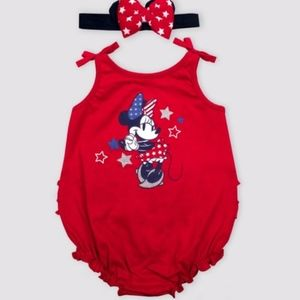 Minnie Mouse Americana Romper with Headband